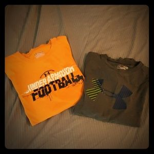 Under armour boys t shirts - 2 shirt bundle